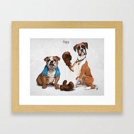 Raging Framed Art Print