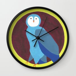O is for Owl Wall Clock
