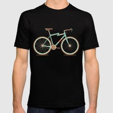 Bicycle Black Mens Fitted Tee LARGE