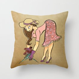 Gardening is Sexy Throw Pillow