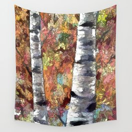 Aspen Trees Panorama Wall Tapestry