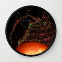 hydra Wall Clocks featuring Corvus & Hydra constellation by Gaëlle Reitz