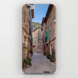 Narrow street in Valldemossa village - Mallorca, Spain iPhone Skin