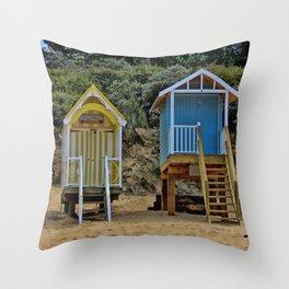 Wells next the sea Beach Huts Throw Pillow