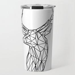Black Line Faceted Stag Trophy Head Travel Mug