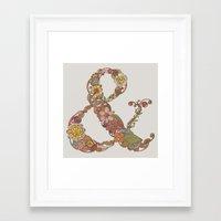 ampersand Framed Art Prints featuring Ampersand by Valentina Harper