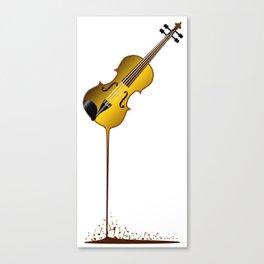 Liquid Violin Canvas Print