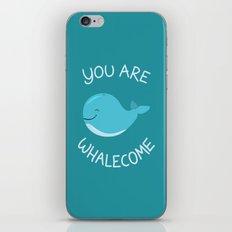 Whale, thank you! iPhone & iPod Skin