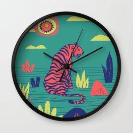 Wild and Fierce Wall Clock