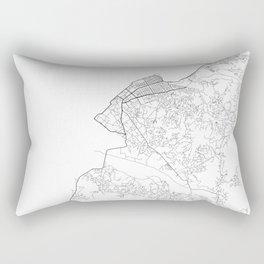 Minimal City Maps - Map Of Batumi, Georgia. Rectangular Pillow