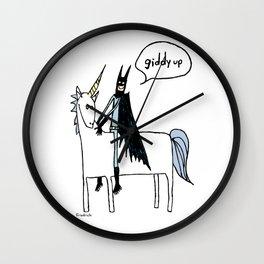 Unicorns like French Fries and Baked Potatoes Wall Clock
