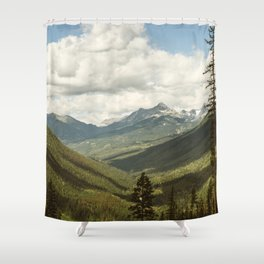 The Great Green Unknown Shower Curtain