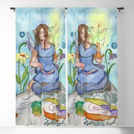 Last Candle (Fairy and the Dragon) Blackout Curtain