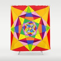 fibonacci Shower Curtains featuring FIBONACCI  by PlanetLOUDville