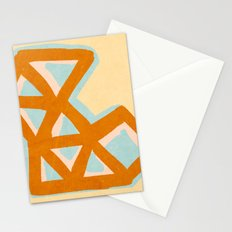 Vintage triangles Stationery Cards