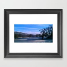 a touch of frost Framed Art Print
