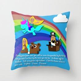 Kelsey Sharkey Congrats Throw Pillow