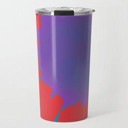 Splat on Red - by Friztin Travel Mug