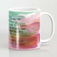 kerouac Mugs featuring Kerouac Watercolour: by NomadicArt