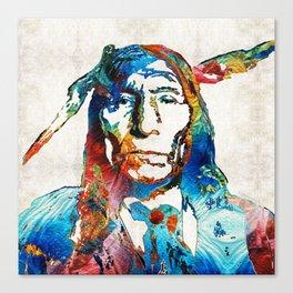 Native American Art - Warrior - By Sharon Cummings Canvas Print