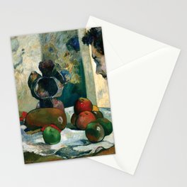 Still Life with Profile of Laval by Paul Gauguin Stationery Cards