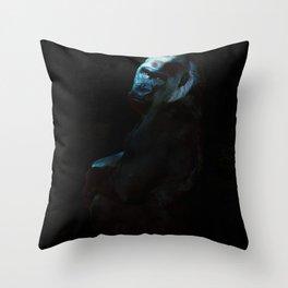 Humanity - Mountain Gorilla in Moonlight Throw Pillow