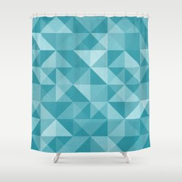 Hatched Module #2 Shower Curtain