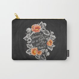Beauty is a Light in the Heart Carry-All Pouch