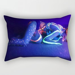 Purple, Yellow, Red and Blue Rectangular Pillow