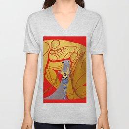"""Art Deco Design """"Samson & Delilah"""" Unisex V-Neck"""