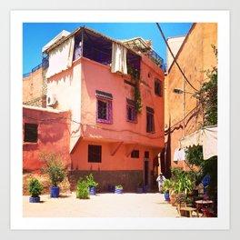 Colorful Corner Marrakesh Art Print