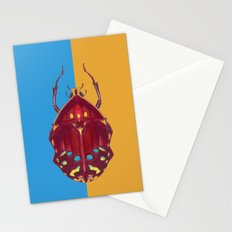 Art Deco Beetle Stationery Cards