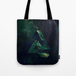 Impossible Triangle Galaxy Tote Bag