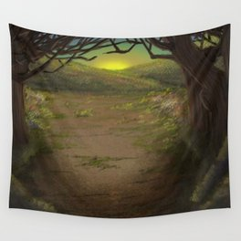 Forest Opening Out To A Meadow Wall Tapestry