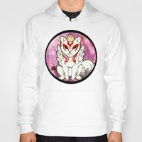 okami Hoodies featuring Amaterasu from Okami 02 by Jazmine Phillips