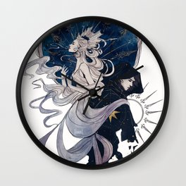 The Sun, the Moon and the Star Wall Clock