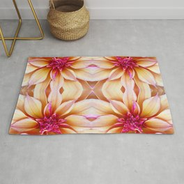 142 - Abstract Flowers Rug