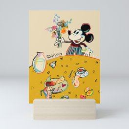 """Breakfast with Mickey Mouse"" by Sandra Poliakov Mini Art Print"