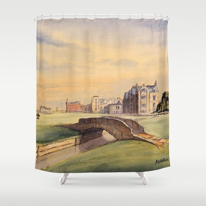 St Andrews Golf Course Scotland 18th Hole Shower Curtain