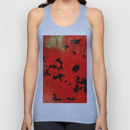 Red Modern Contemporary Abstract Textured Design Unisex Tank Top