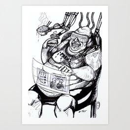 Inktober: Fat Art Print