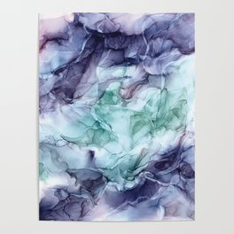 Growth- Abstract Botanical Fluid Art Painting Poster