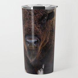 In The Presence Of Bison #society6 #decor #bison by Lena Owens @OLena Art Travel Mug