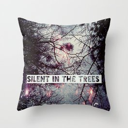 Silent In The Trees Throw Pillow