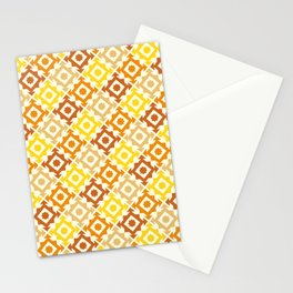The arrow – brown and yellow Stationery Cards