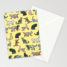 Cats shaped Marble - Sun Yellow Stationery Cards