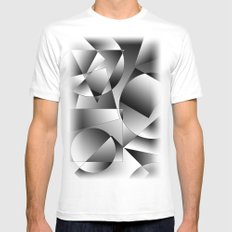 shapes SMALL Mens Fitted Tee White