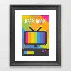 Beep. Boop. Framed Art Print