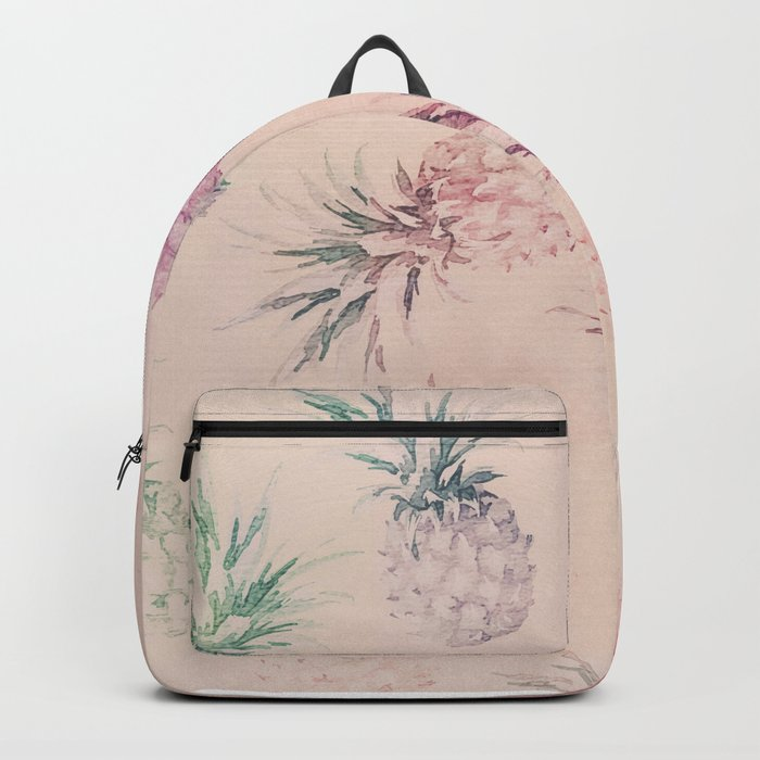 Soft Pastel Pineapple Summe Pattern Backpack