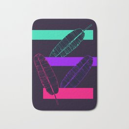 Neon Banana Leaves #society6 #tropical Bath Mat